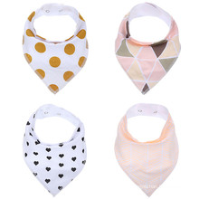 Bandana Drool Bibs, Boys Pack, Soft Cotton w/ Snaps, Cute Baby Gift