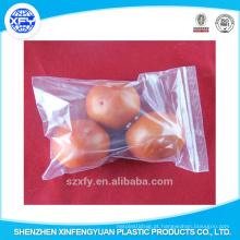 Alimentos de grau claro plástico rasealable alimentos ziplock sacos