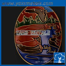 personalize medalhas de metal, esmaltes coloridos personalizados de alta qualidade que caminham medalhões de vara