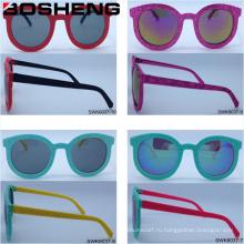 Женщины Мужчины Unisex Круглые Форма Мода Глаз Солнцезащитные очки
