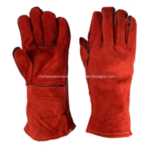 Red Leather 35cm Insulated Welding Gloves
