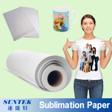 A3 A4 Roll Sublimation Heat Transfer Printing Paper for T-Shirt