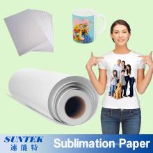 Papel de sublimación de impresión de transferencia térmica para camiseta de poliéster