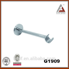 G1909 decoration curtain rod wall brackets accessories, chrome fixed single brackets