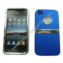 Chrome Case With Stand For iPhone 4s