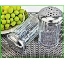 Venta al por mayor de fábrica Botella de cristal de la sal de la pimienta del pote de la botella de la especia del condimento de 80 Ml