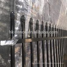 Günstige Vierkantrohr verzinkt / pulverbeschichtet Schmiedeeisen verwendet Zaunplatten zum Verkauf (ISO9001)
