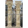 Porch Pillar with Stone Marble Granite Sandstone (QCM130)
