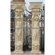 Porch Pillar with Stone Marble Granite Sandstone (QCM130)
