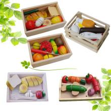 Пища для детей с деревянной коробкой