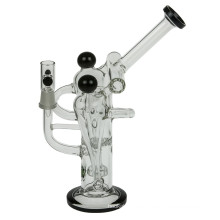 Tubo de agua de fumar de cinco cámaras de reciclaje de vidrio Bubbler (ES-GB-367)