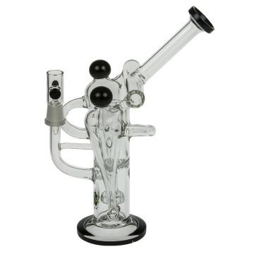 Пять камерных стеклянных рециклеров Bubbler Курительные трубки для воды (ES-GB-367)