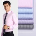 Check Polyester Shirt Fabric Anti-wrinkle Moisture Fabric