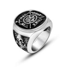 Ветствующих Череп Мужчины Кольцо Щит Из Нержавеющей Ювелирные Изделия Панк Стиль