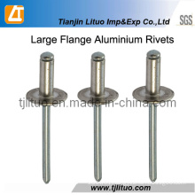 16/19mm Large Flange Head Aluminium Rivets