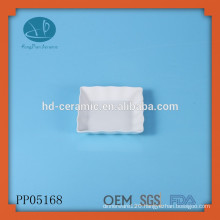 ceramic square wave shaped serving plate,wave rim square plate