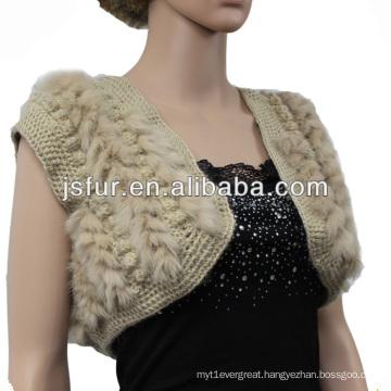 Updating lovely wedding rabbit fur shawl