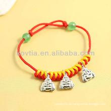 China antike Design Silber Anhänger Schmuck rot Seil Armbänder
