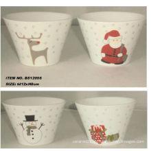 5inch ilustraciones de la Navidad del tazón de fuente de cerámica para BS12056