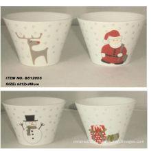 5inch керамическая чаша рождественские украшения для BS12056