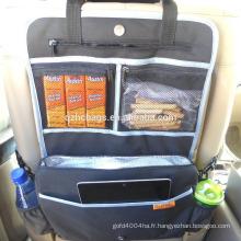 Organisateur de banquette arrière de voiture de sac de poussette de 5 dans 1 avec le compartiment plus frais (ESC-DB020)