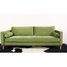 Wooden Frame Tufted Couches Red Fabric Living Room Furniture Leisure Modern Sofa