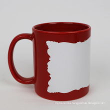 11oz red luminous mug with irregular edge