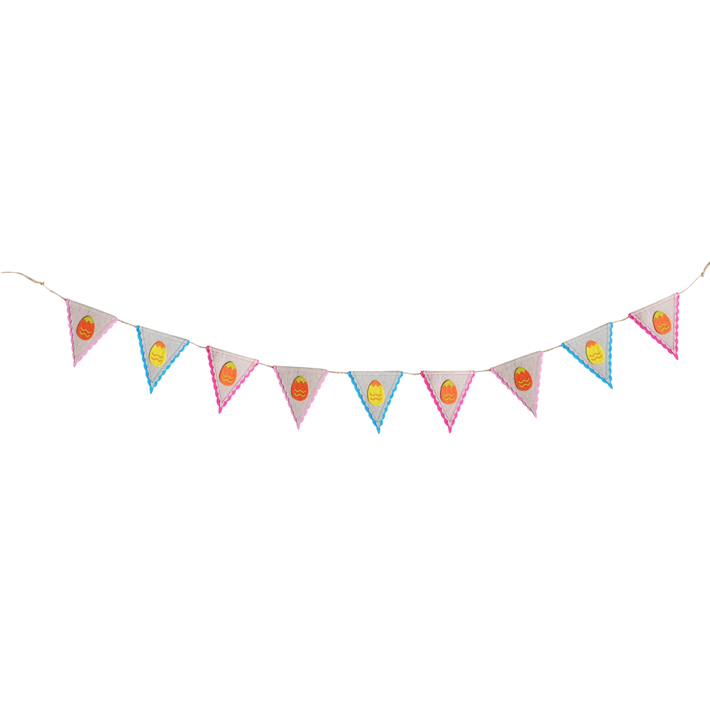 Easter Burlap Egg Bunting Flag