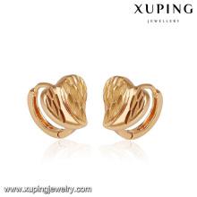 92828- Xuping Les meilleures images de cadeau d'amis Les boucles d'oreille de coeur d'or pour