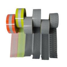 "2"" Safety Silver Reflective Iron on Fabric Clothing Tape Stripe Reflective Heat Transfer Vinyl Film Segmented"