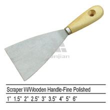 Sjsl37 Raspador de mango de madera pulida de acero al carbono