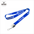 Factory Custom Cheap Silk-Screen Printing Polyester Lanyard