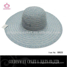 Stylish Lady Cheap Polyester Hats for promotional floppy summer hat