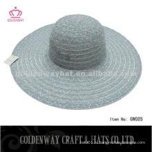 Стильные леди Дешевые полиэфирные шапки для рекламной гибкой летней шляпы