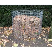 composteur de fil galvanisé pour les feuilles sèches en automne