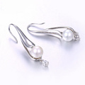 97350 Xuping fashion new design gold jewelry rhodium color pearl earrings bijouterie