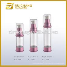 30ml / 40ml / 50ml bouteille cosmétique sans air, bouteille ronde en plastique sans air, emballage cosmétique
