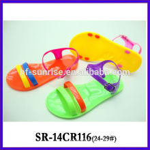 SR-14CR116 clear jelly sandals kids plastic sandals latest new children wholesale jelly sandals