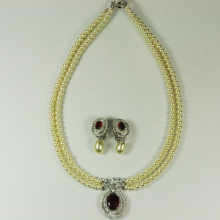 Pearl Necklace and Earring Set for Wedding