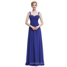 Starzz Sweetheart sin mangas azul real vestido de noche de gasa larga ST000065-3