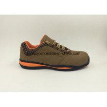 Low-Cut Slip-oposição couro sapatos calçados de segurança (16061)