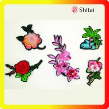 Supply for Custom Shirt Patches Fashion embroidery flower with pompons&sequins export to United States Exporter