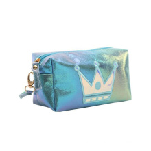 Promotional Cosmetic Bag Princess Embroidery Waterproof PU Cosmetic Bag Women Designer Makeup Purses Bags