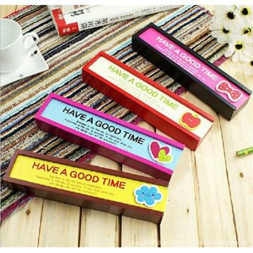cajas de lápices de madera femeninos de lujo