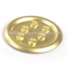 Custom metal stamping brass heater tube flange for Electric heating