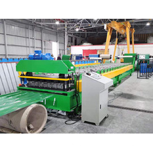 Máquina formadora de rolos para telhados IBR