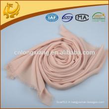 Écharpe en laine beige pleine longueur