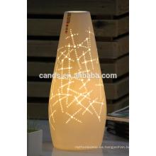 Lámpara de mesa de cerámica europea de color blanco