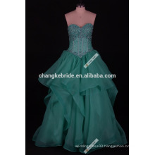 White Organza Quinceanera Dress featuring Tiered Skirt with Horsehair Trim