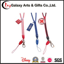 Two-Tone Zipper Cellphone Lanyard Manufacturer